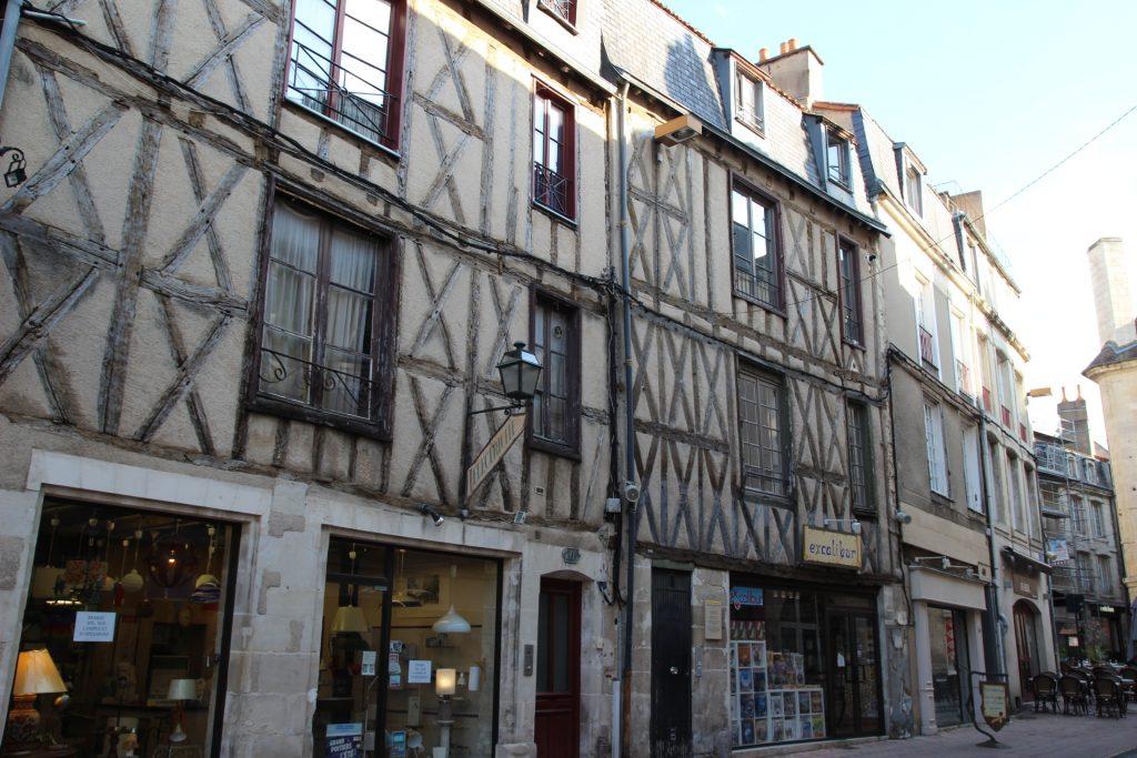 Calle carnicerías en Poitiers